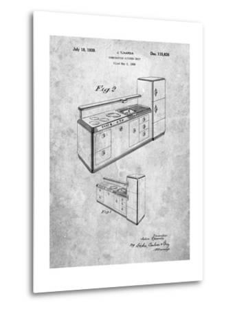 Kitchen Cabinets-Cole Borders-Metal Print