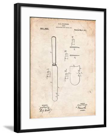 Dinner Knife Patent-Cole Borders-Framed Art Print