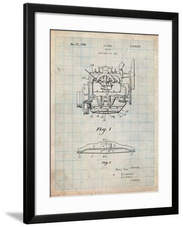 Model a Ford Pickup Truck Engine-Cole Borders-Framed Art Print