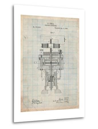 Tesla Electric Generator-Cole Borders-Metal Print