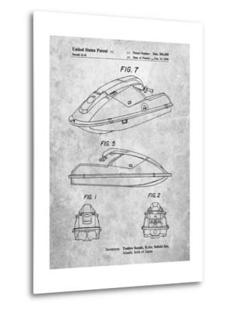 Suzuki Wave Runner Patent-Cole Borders-Metal Print