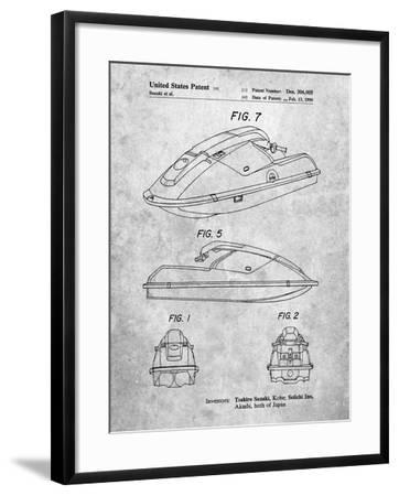Suzuki Wave Runner Patent-Cole Borders-Framed Art Print