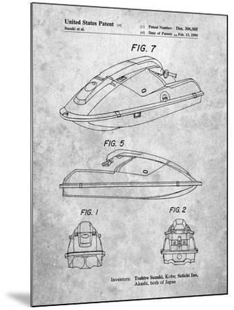 Suzuki Wave Runner Patent-Cole Borders-Mounted Art Print