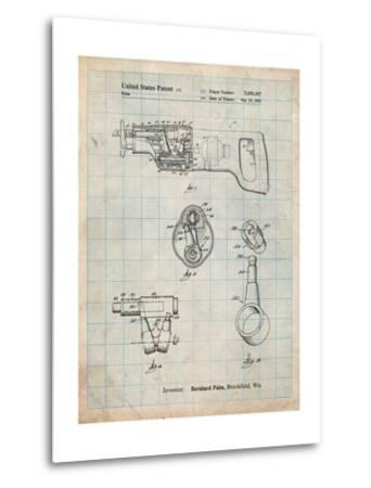 Milwaukee Reciprocating Saw Patent-Cole Borders-Metal Print