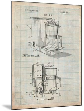 Coffee Maker Patent-Cole Borders-Mounted Art Print
