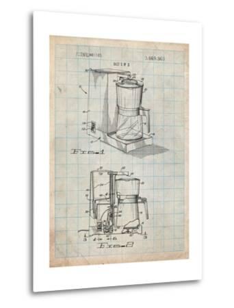Coffee Maker Patent-Cole Borders-Metal Print