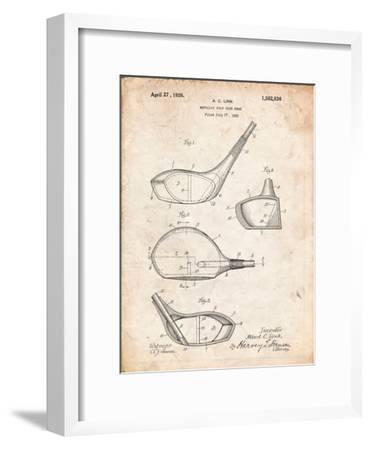 Golf Club Driver Patent-Cole Borders-Framed Art Print