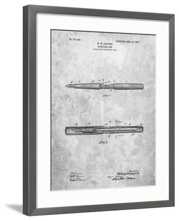 Sanford Fountain Pen 1905 Patent-Cole Borders-Framed Art Print