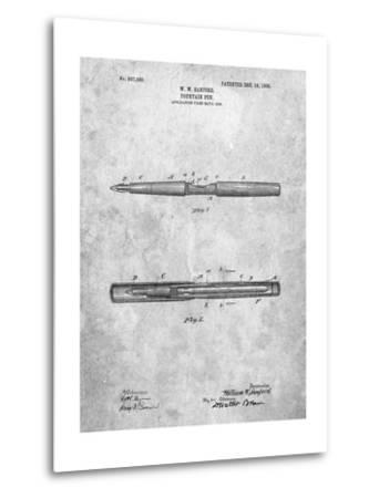 Sanford Fountain Pen 1905 Patent-Cole Borders-Metal Print