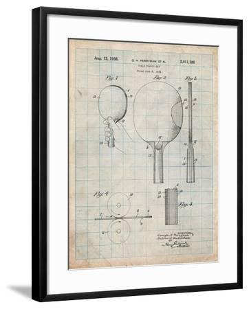 Ping Pong Paddle Patent-Cole Borders-Framed Art Print
