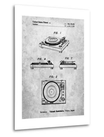 Sansui Turntable 1979 Patent-Cole Borders-Metal Print