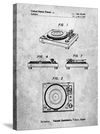 Sansui Turntable 1979 Patent-Cole Borders-Stretched Canvas Print