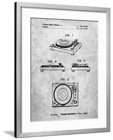 Sansui Turntable 1979 Patent-Cole Borders-Framed Art Print