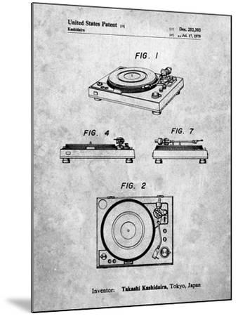 Sansui Turntable 1979 Patent-Cole Borders-Mounted Art Print