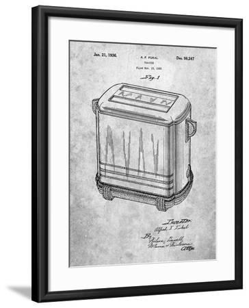 Toaster Patent Art-Cole Borders-Framed Art Print