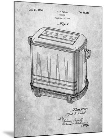 Toaster Patent Art-Cole Borders-Mounted Art Print