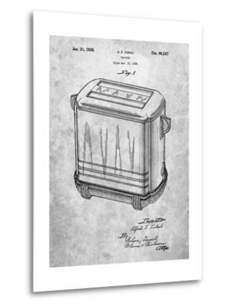 Toaster Patent Art-Cole Borders-Metal Print
