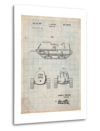 Armored Tank Patent-Cole Borders-Metal Print