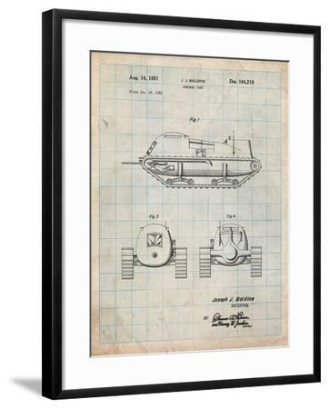 Armored Tank Patent-Cole Borders-Framed Art Print