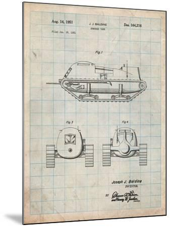 Armored Tank Patent-Cole Borders-Mounted Art Print