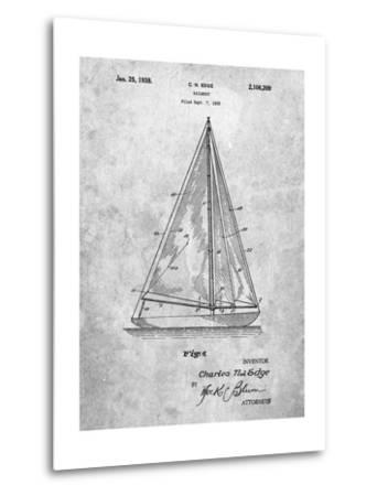 Sloop Sailboat Patent-Cole Borders-Metal Print