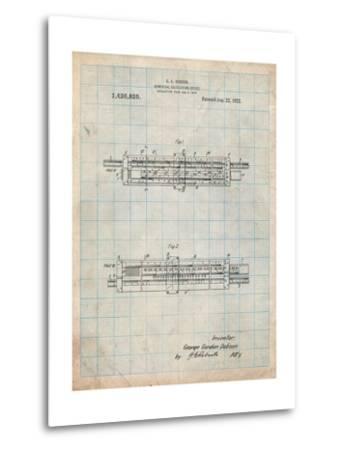 Slide Rule Patent-Cole Borders-Metal Print