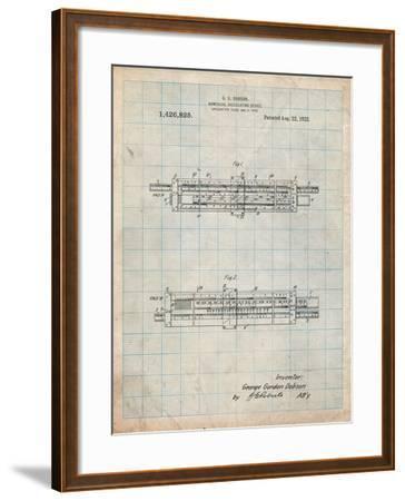 Slide Rule Patent-Cole Borders-Framed Art Print