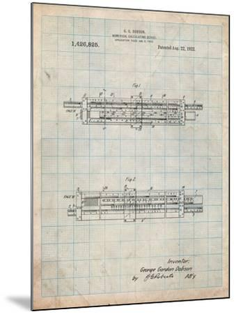 Slide Rule Patent-Cole Borders-Mounted Art Print