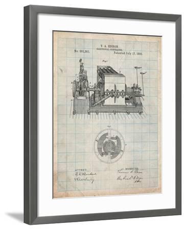 Edison Electrical Generator Patent Art-Cole Borders-Framed Art Print