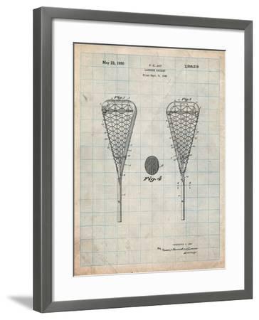 Lacrosse Stick 1948 Patent-Cole Borders-Framed Art Print