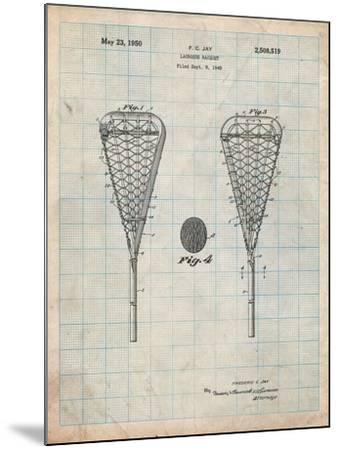 Lacrosse Stick 1948 Patent-Cole Borders-Mounted Art Print