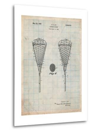 Lacrosse Stick 1948 Patent-Cole Borders-Metal Print