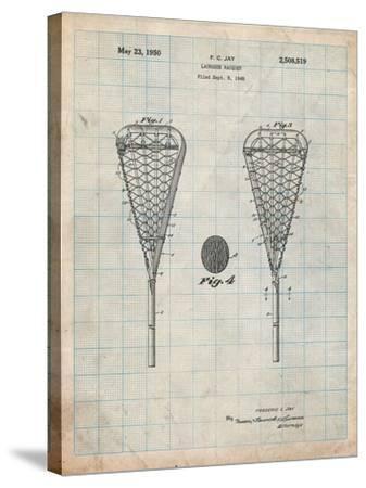 Lacrosse Stick 1948 Patent-Cole Borders-Stretched Canvas Print