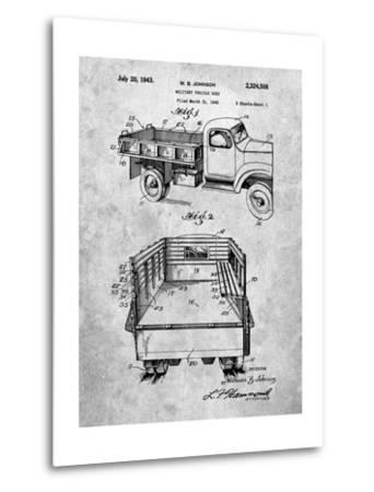 Military Vehicle Truck Patent-Cole Borders-Metal Print