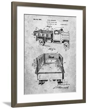 Military Vehicle Truck Patent-Cole Borders-Framed Art Print