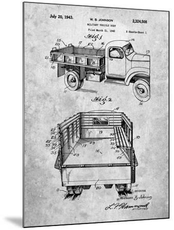 Military Vehicle Truck Patent-Cole Borders-Mounted Art Print