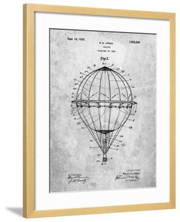 Hot Air Balloon 1923 Patent-Cole Borders-Framed Art Print