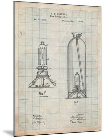 Antique Fire Extinguisher 1880 Patent-Cole Borders-Mounted Art Print