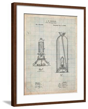 Antique Fire Extinguisher 1880 Patent-Cole Borders-Framed Art Print