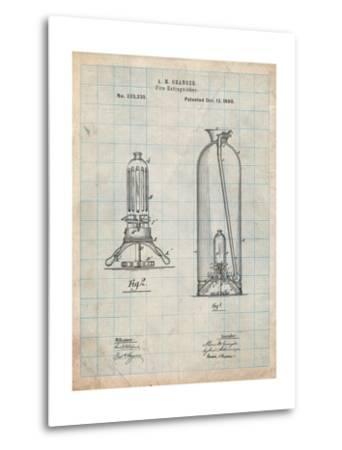 Antique Fire Extinguisher 1880 Patent-Cole Borders-Metal Print