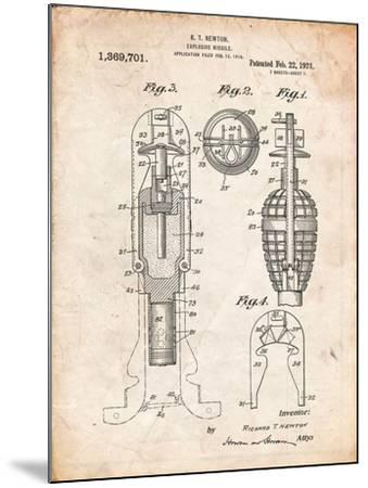Military Missile Patent-Cole Borders-Mounted Art Print