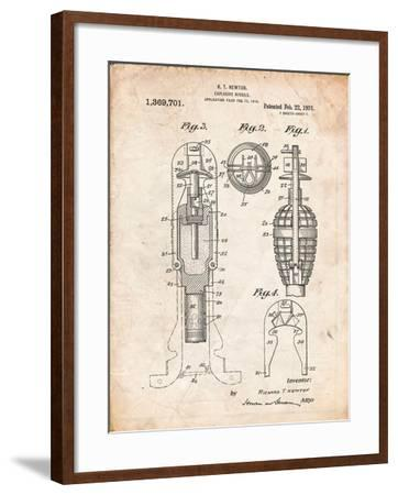 Military Missile Patent-Cole Borders-Framed Art Print