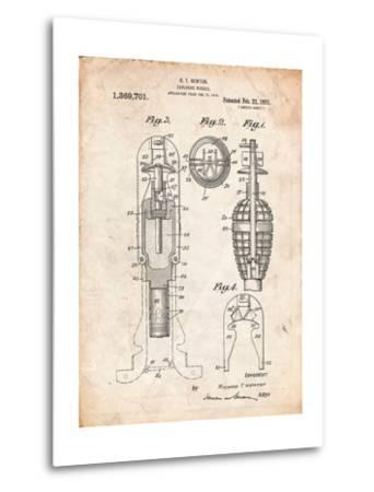 Military Missile Patent-Cole Borders-Metal Print