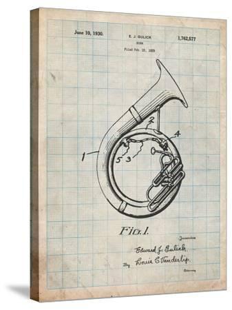 Sousaphone Patent-Cole Borders-Stretched Canvas Print