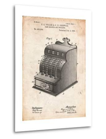 Cash Register Patent-Cole Borders-Metal Print