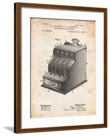 Cash Register Patent-Cole Borders-Framed Art Print