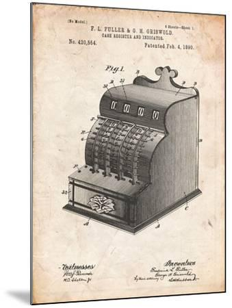 Cash Register Patent-Cole Borders-Mounted Art Print