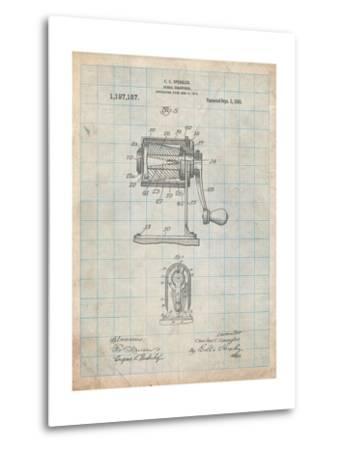 Pencil Sharpener Patent-Cole Borders-Metal Print