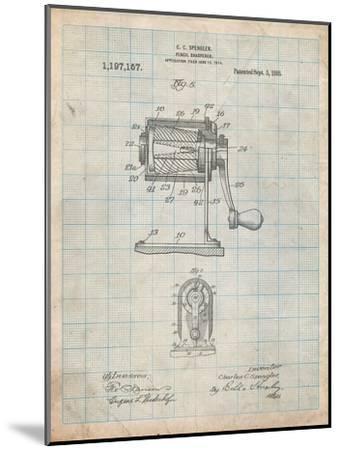 Pencil Sharpener Patent-Cole Borders-Mounted Art Print