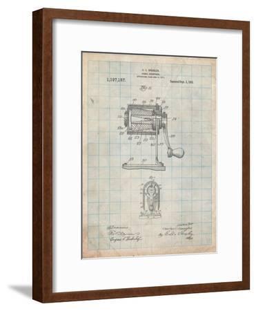 Pencil Sharpener Patent-Cole Borders-Framed Art Print